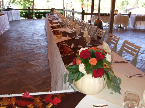 Dinner Set up as U-Shape with lovely decor