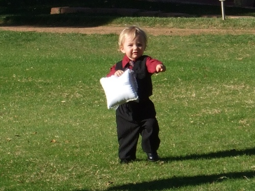 Their Cute Ring Bearer