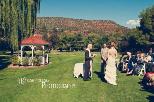 Sarah and Craig's Intimate Wedding Ceremony on the Golf Course