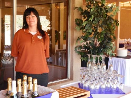 Banquet Staff Member Hollie at the Mimosa Bar