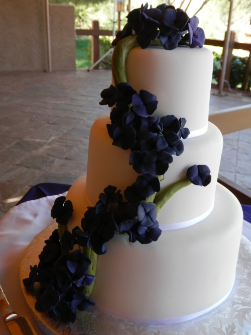 The wedding cake created by Donna Joy, Sedona Sweet Arts