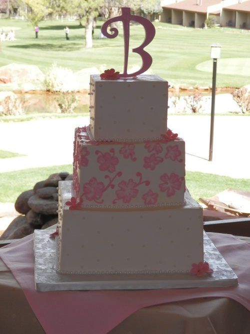 Donna Joy's Signature Chocolate Wedding Cake with Butter Cream Frosting