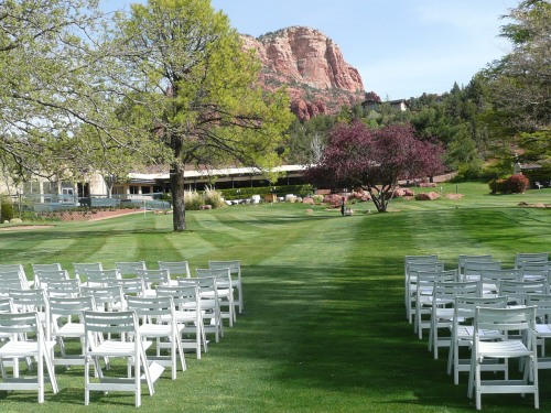 Red Rock Setting for your Wedding Ceremony