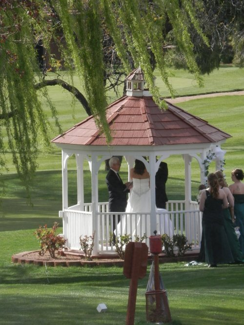 Sand Ceremony in the Gazebo