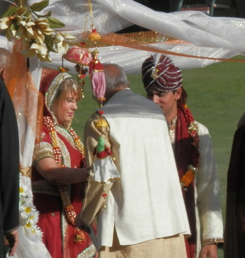 Their Pandit Performs the Ceremony