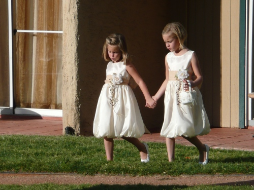 Pair of Adorable Flower Girls