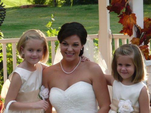 Our Lovely Bride Marcy with her Flower Girls
