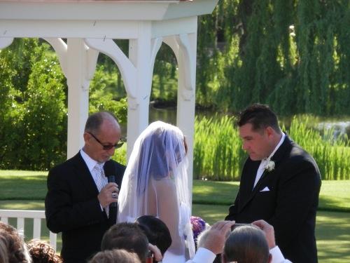 Rev. Andrew Murphy Performing Wedding Ceremony