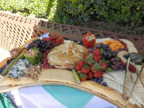 Elegant Fruit and Cheese Display