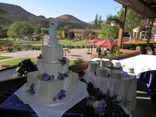 The Beautiful Wedding Cake created by Donna Joy, Sedona Sweet Arts
