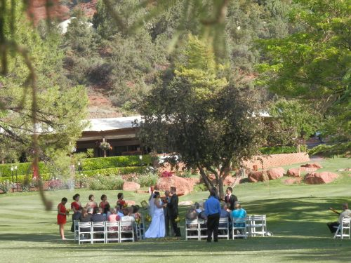 Wedding Ceremony on the Golf Course