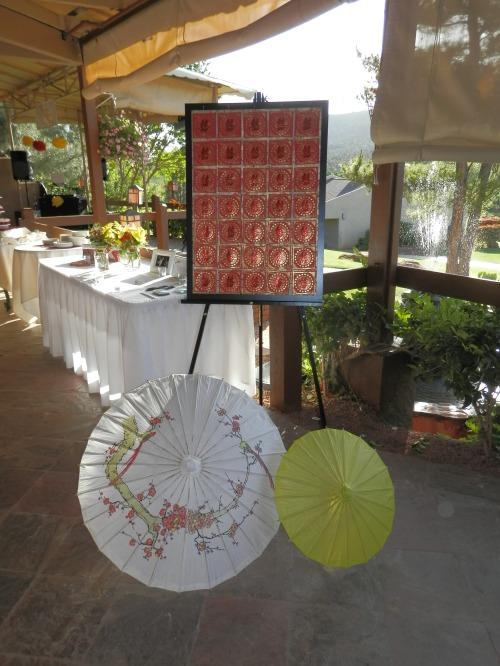 Oriental Theme at Wedding Reception