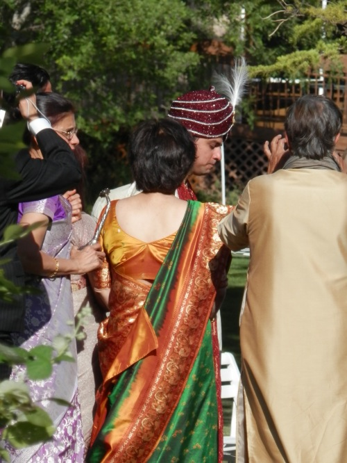 Gaurav arrives, the Baraat is the arrival of the groom on the day of the wedding.