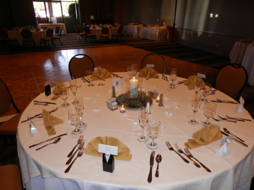 Poco Diablo Ballroom Prepared for the Arrival of the Bridal Party and Wedding Guests