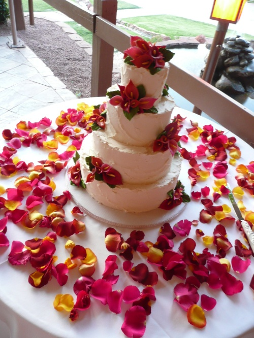 Rachel and Paul's Gluten Free Wedding Cake by Donna Joy, Sedona Sweet Arts
