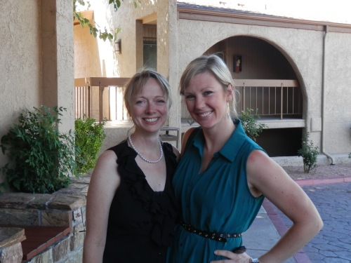 Photographers Melissa Dunstan (left) with Kristen Carnes