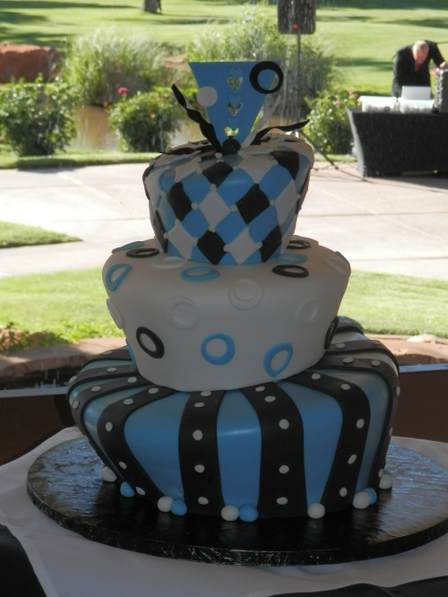 The Fun Wedding Cake by Donna Joy, Sedona Sweet Arts