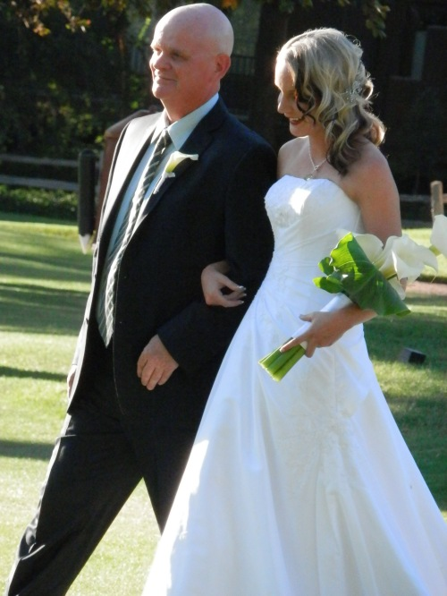 Our Lovely Bride Cassi Walking Down the Aisle with her Father