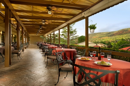 Outdoor Dining at Resort Restaurant