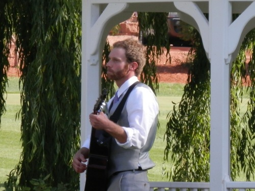 Adam Played Guitar as the Bridal Party Approached the Gazebo
