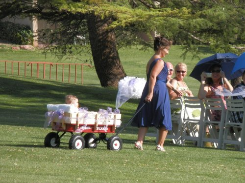 Cassidy's Mother Pulls the Wagon with Baby Elijah