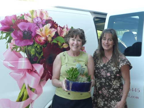 Bliss Extraordinary Floral Owner Amy Mills (left) with Vicky