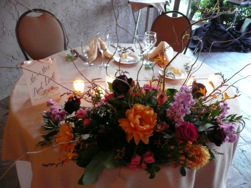 Beautiful Floral Arrangements for the Sweetheart Table Created by Bliss Extraordinary Floral