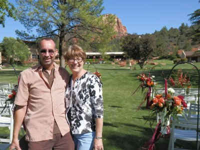 Owner Amy Mills and Bob, Bliss Extraordinary Floral