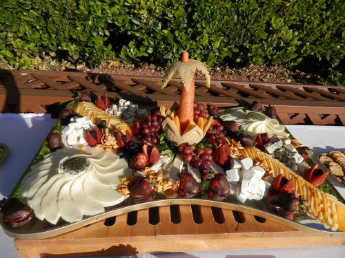 Delicious and Creative Fruit and Cheese Display