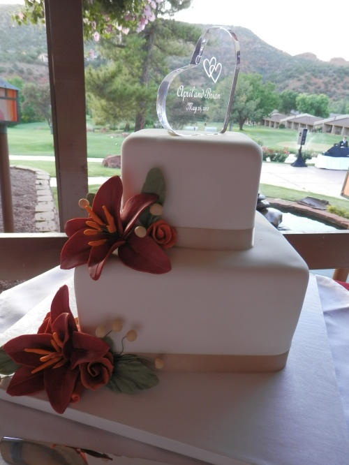 Custom Wedding Cake Created by Donna Joy, Sedona Sweet Arts