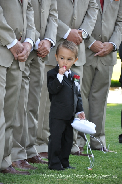 Their adorable Ring Bearer