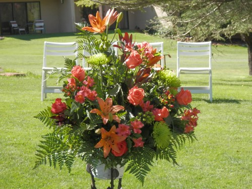 Lovely Floral Arrangements for the Wedding Ceremony Created by Mountain High Flowers