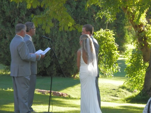 Monica and Matt's Fathers Performed the Wedding Ceremony