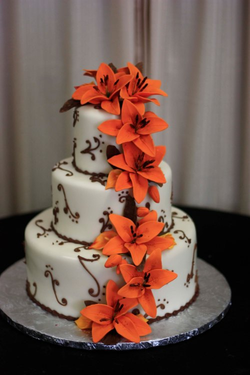 Marissa and Jason's Wedding Cake Created by Donna Joy, Sedona Sweet Arts