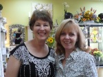 Amy Mills with Bliss Extraordinary Floral (left) with Donna Joy, Sedona Sweet Arts