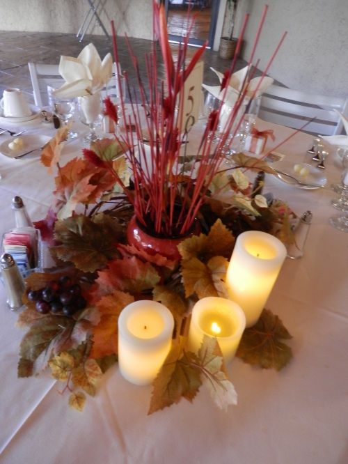 Lovely Fall Decor on the Guest Tables