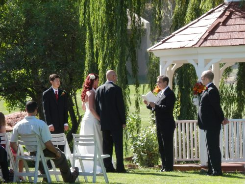 The Intimate Wedding Ceremony was Performed by Rev. Ken Froessel