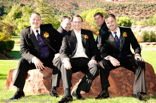 Our groom John with his groomsmen
