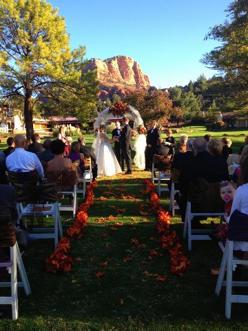 Beautiful Autumn Wedding Ceremony