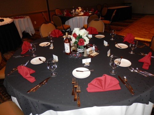 Table Decorations and Colorful Decor in the Poco Diablo Ballroom