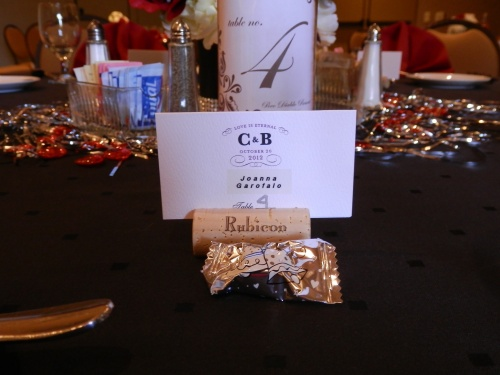 Love the Wine Theme and Personal Place Cards