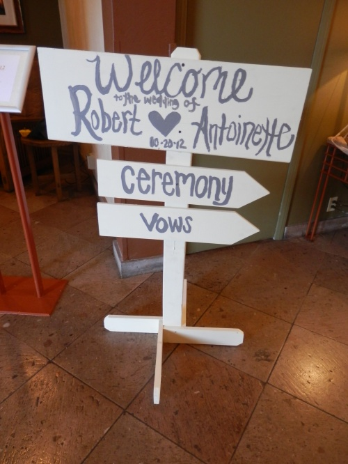 Welcome Sign for the Wedding Guests