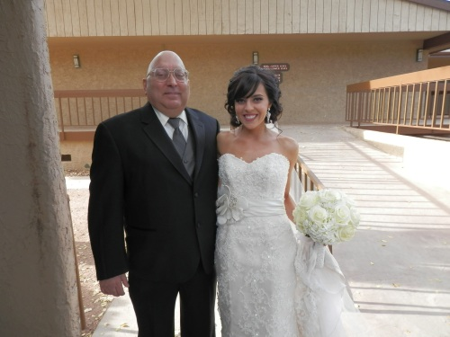 We Love this Shot of Antoinette with her Father just before the Wedding Ceremony