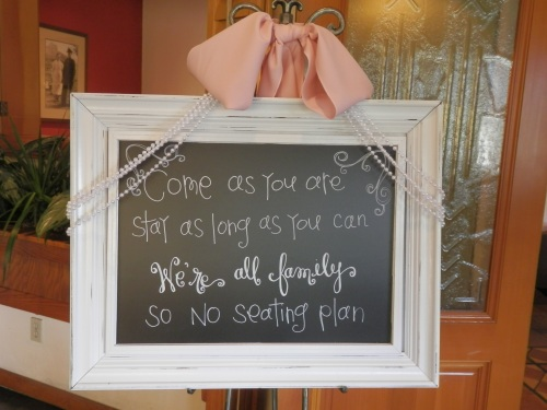 Black Board Welcoming their Wedding Guests