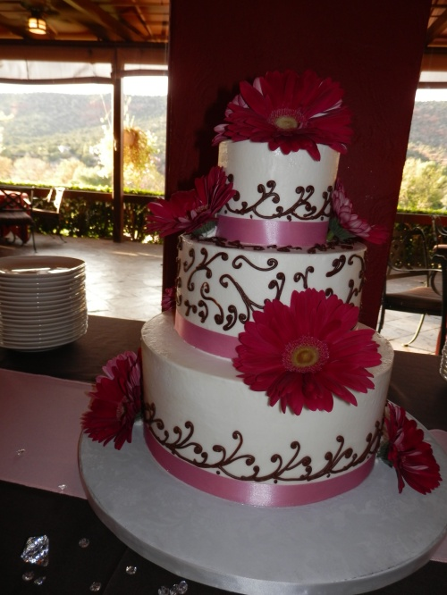 Beautiful Wedding Cake Created by Donna Joy - Sedona Sweet Arts