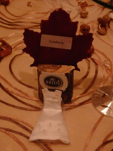 Fall Themed Wedding Favors