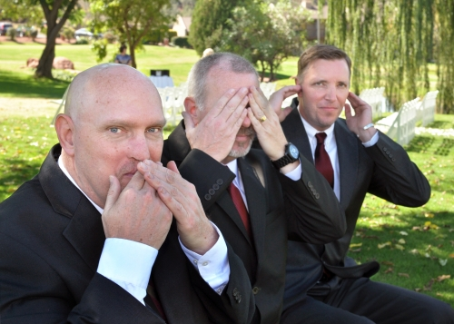 We love this photo by Amy Ijams: Speak no evil, See no evil and Hear no evil.