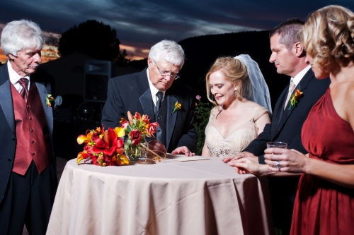 Rachel & Jim Signing their Marriage License- cwlifephotography.com