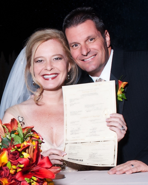 Rachel & Jim With their Marriage License- cwlifephotography.com