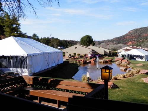 Sedona Bridal Fair Grand Marquee Tent on Golf Course